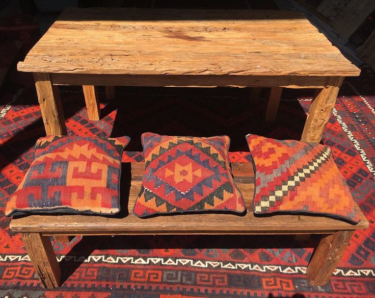 We love patterns! Working on a rustic, Kelim inspired space today in our Rozelle warehouse outlet 🐫 #kelim #cushion #rustic #rug #rustichome #boho #orange #naturallight #rozelle #woodentable #tangerine #interiordesign #interiorstyle #madebyhand #sittingcushion #diningtable #carpet #australianinteriors #interiorinspo #sydneystyle #sydney #decor #shadow #industrial #vibrant