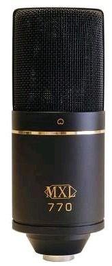mxl 770 microfone condensador para studio c/ case