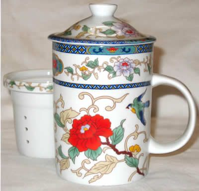 Chinese Tea Cup   In The Garden