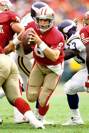 Steve Young, 49ers quarterback 1987 to 1999. Description from pinterest.com. I searched for this on bing.com/images