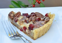 Caramelized Pear & Brie Tart with Cranberries & Candied Pecans - 3rd Place Winner in Imperial Sugar's 2012 Recipe Contest