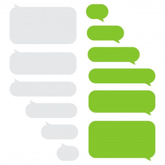 Set Of Message Bubbles Chat Boxes Pamphlet Design Box Template Instagram Frame