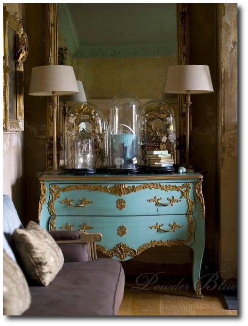 french painted louis xv chest in blue decorating with pastels from french madame blog vintage. Black Bedroom Furniture Sets. Home Design Ideas