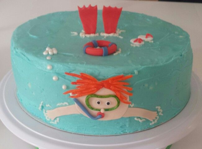 Diver cake for kids / Dykartårta för barn