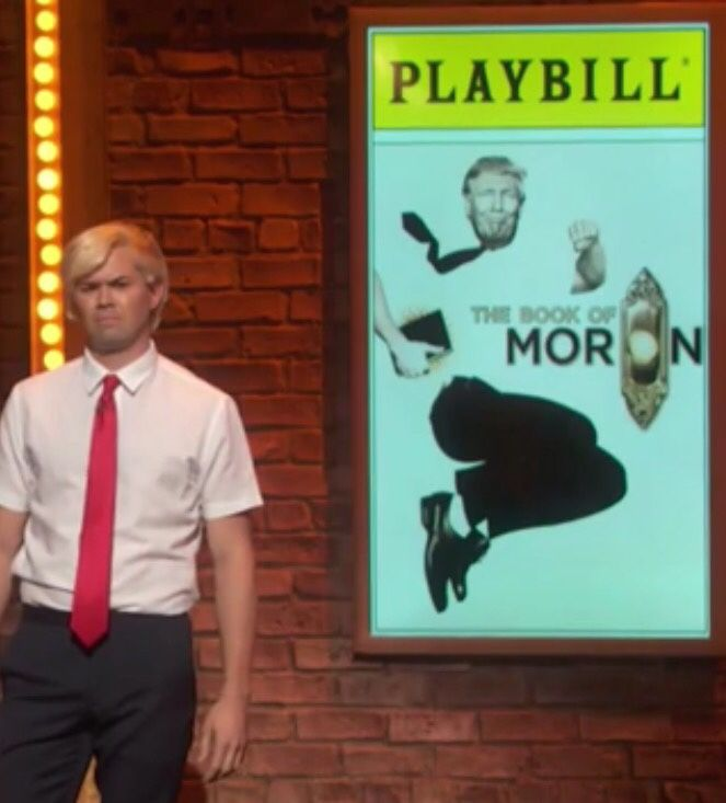 """""""This image is a blessing."""" - Andrew Rannells for """"The Book of Moron"""" at the 2016 Tony Awards"""