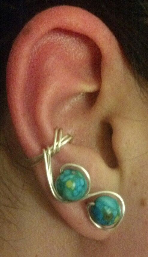 Beaded Ear Cuff by Clancrafted on Etsy
