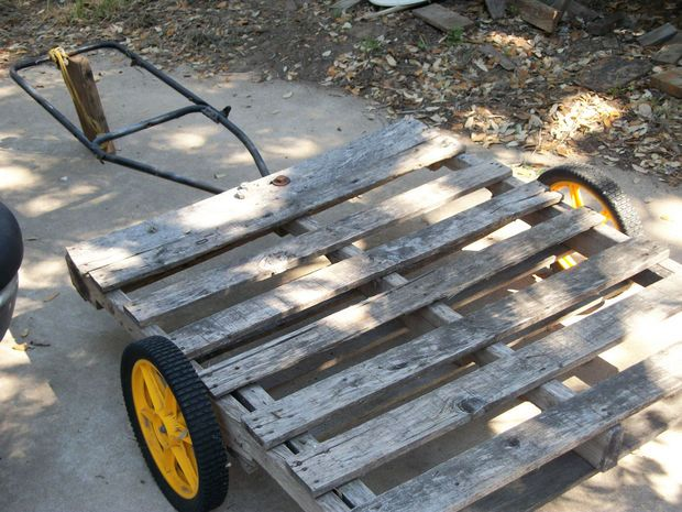 Pallet As Garden Wagon/trailer