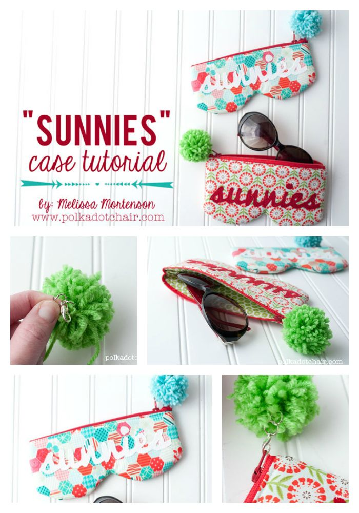 """Sunnies"" a sunglasses case sewing tutorial"