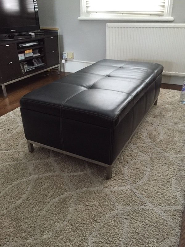 Large leather ottoman with storage | in Kilburn, London | Gumtree