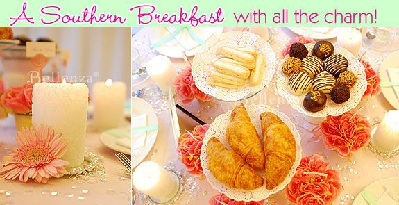 southern breakfast themed bridal shower