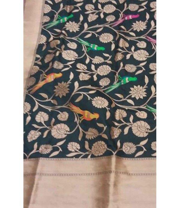 Black Pure Handloom Banarasi Silk Dupatta-------   Please click on this link for details of this dupatta ---------                  http://luxurionworld.com/Dupatta_for_women/LWBDAMK005_Black_Pure_Handloom_Banarasi_Silk_Dupatta_With_Bird_Work.html