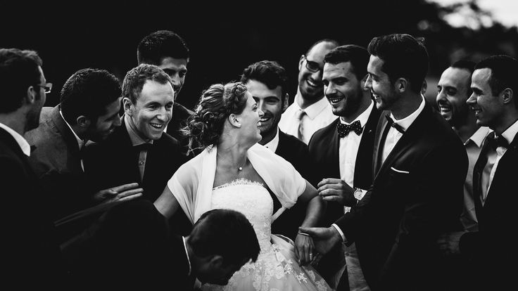 The bride and the bestmen.