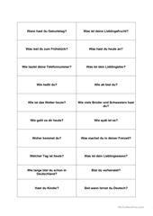Märchen Rotkäppchen Arbeitsblatt - Kostenlose DAF Arbeitsblätter