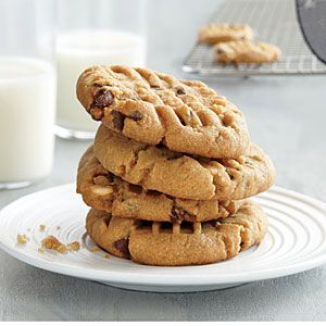 Gluten-Free Peanut Butter Chocolate Chip Cookies | MyRecipes.com https://www.facebook.com/nojokefitness #FitGang #TeamJester #Nojokesfitness