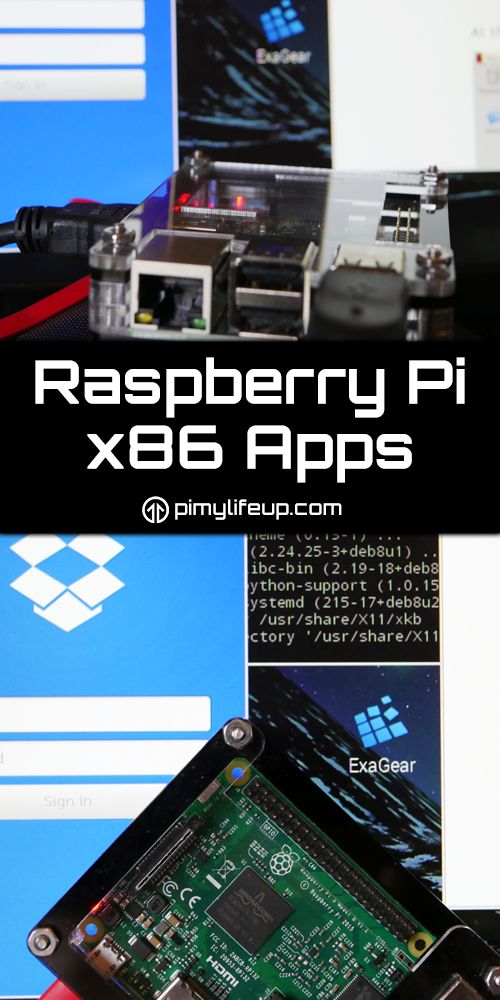 By default, the Raspberry Pi is unable to run x86 apps but you can install a software package called exagear. This acts as a guest OS (an operating system within an operating system) and within this you can install and use x86 applications.  #geekin #geek #pi