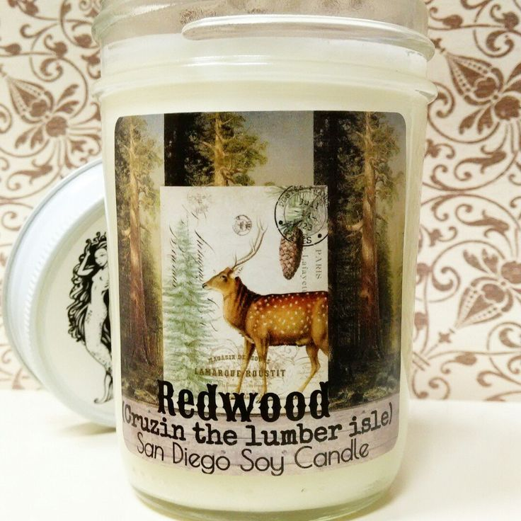 New to the shop! Redwood (lumber isle cruzin) wood scented soy candle. An lot like the lumber section of a do it yourself depot, and sweet fresh cut wood!