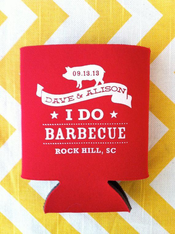 I Do BBQ Wedding Koozies (100 quantity) on Etsy, $134.00