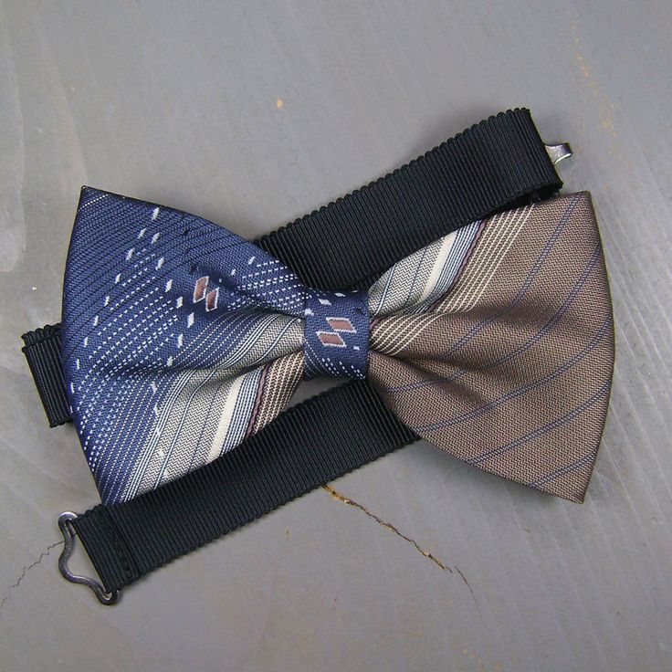 Bow Tie, Bow Ties For Men, Mens Gift, Wedding Bow Tie, Vintage Clothing by OfTheWoodsEtsy on Etsy