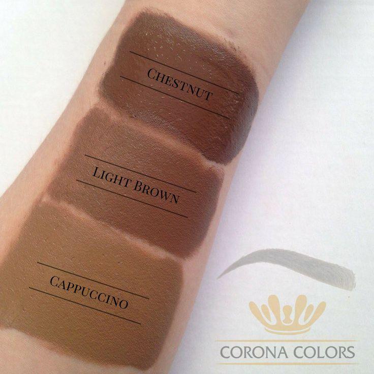Теплые оттенки для рыжих, шатенок и блондинок от #coronacolors. 🔱 Каштановый (Chestnut)- коричневый оттенок средней интенсивности. Для бровей на 1-3 типе. Идеально подходит для рыжих волос 🔱Светло коричневый (Light Brown) -более нежный и прохладный оттенок карамельного цвета, который идеально подходит светлым блондинкам и шатенкам. 🔱Капучино (Cappuccino)- светлый кремово-коричневый цвет кофе с молоком. Для бровей на 2-3 типе. Хороший выбор для создания эффекта натуральных бровей на…