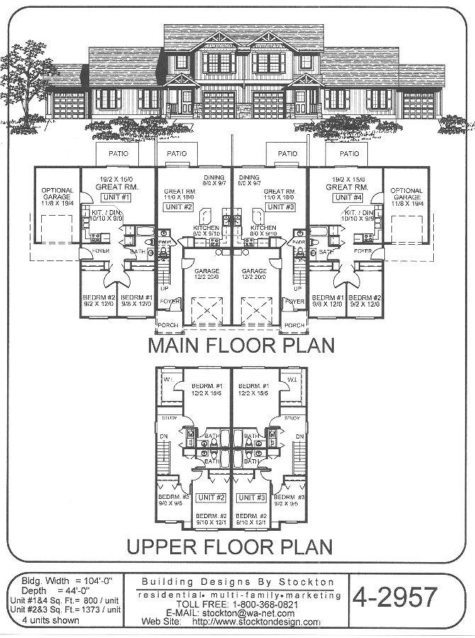Building Designs By Stockton: Plan # 4 2957