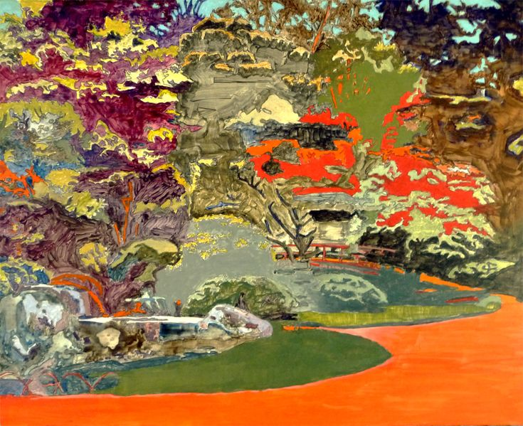 Japanese Garden, painting by Peter Hallberg