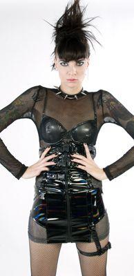LIP SERVICE Oil Spill mini skirt  #38-635 - size XL