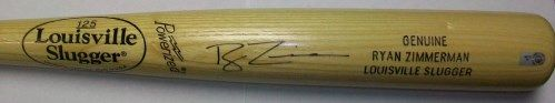 Ryan Zimmerman Autographed Bat - Blonde Louisville Slugger Bats