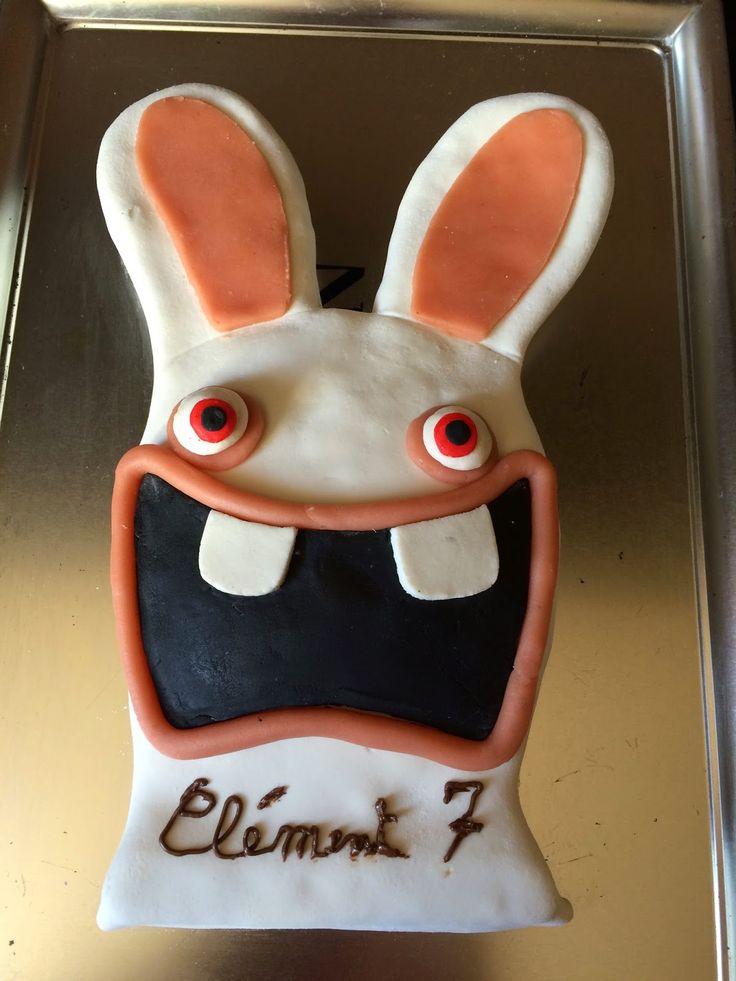 2 gars - 2 filles: Gâteau lapins crétin - 7 ans de Deuz!