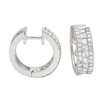 59 best Diamond earrings images on Pinterest