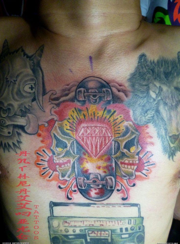 Diamond Chest Tattoo: 34 Best Diamond Chest Piece Tattoo Images On Pinterest