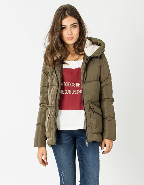 Jacket with fur on the hood