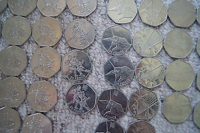 #London 2012 #olympic 50p coins, #swimming,badminton,boxing,archery,sailing,fenci,  View more on the LINK: 	http://www.zeppy.io/product/gb/2/111926160169/