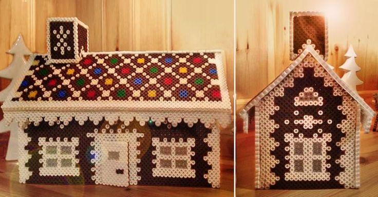 Skippa degen! Bygg ett fint pepparkakshus av pärlor