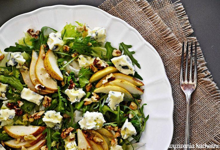wyzwania kuchenne: Sałatka z gruszką, awokado i gorgonzolą