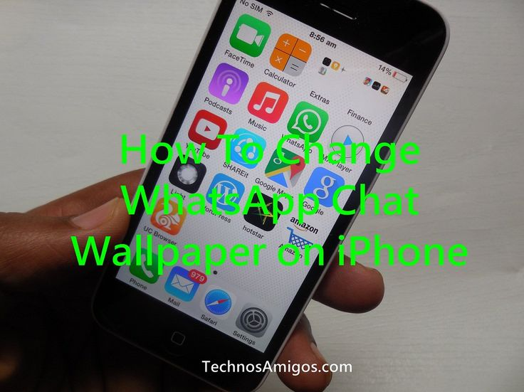 Changing WhatsApp Chat Wallpaper on iPhone