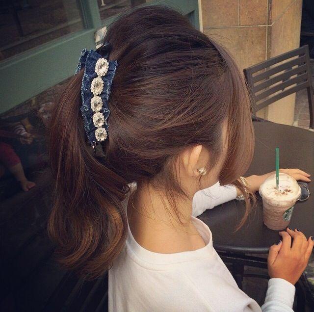 @stylish_1225 #STYLISH#ヘアアクセ#スタイリッシュ#ヘアアクセサリー#ヘアー#ヘアアレンジ#girl#hair#かわいい#アクセサリー#バナナクリップ#スタバ#フラペチーノ#カフェ