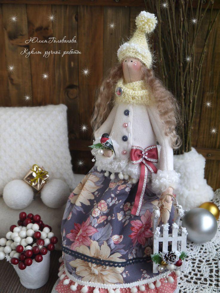 """Купить ТИЛЬДА КУКЛА """"Зимний рассвет"""" - тильда, кукла Тильда, тильда кукла, тильда ангел"""