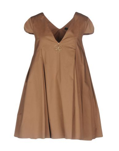 59f434189951 ELISABETTA FRANCHI 24 ORE Women s Short dress Khaki ...