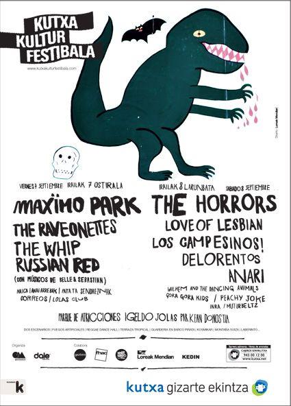 Cartel para Festival de Música @KutxaKultur made in @Loreak Mendian