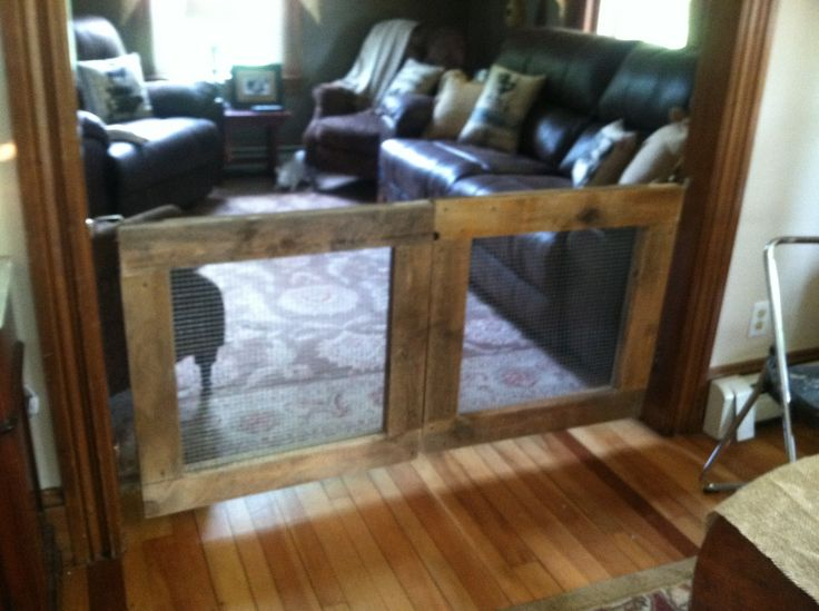 DIY removable and rustic baby gate. Did I mention this was done for under $35 & 70 best rustic cafe doors and baby gates images on Pinterest ...