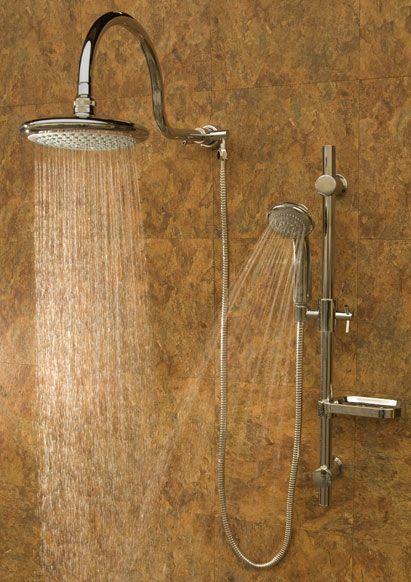 slide bar with a rain shower in a shower | Pulse Aqua Rain shower Bathroom Shower s oversize rain shower head