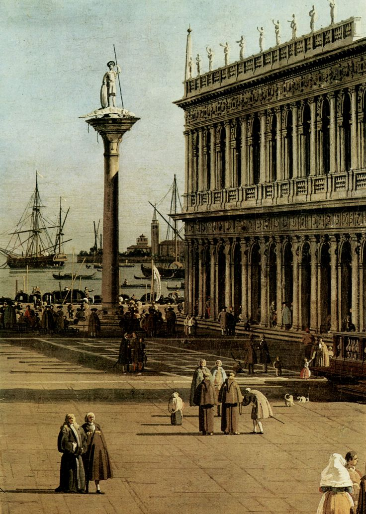 The Little Piazza by Canaletto.