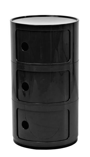 Replica Anna Castelli Ferrieri Componibili 3 Round Storage Black