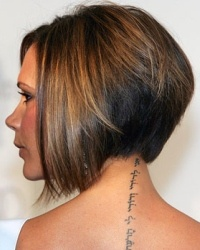 Love this hair cut on Victoria Beckham.