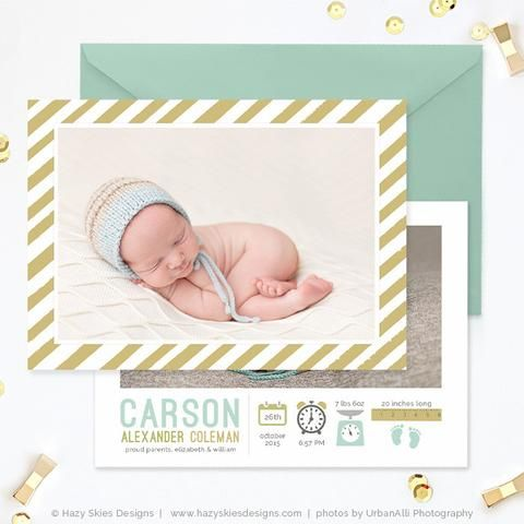 FREE Birth Announcement Template