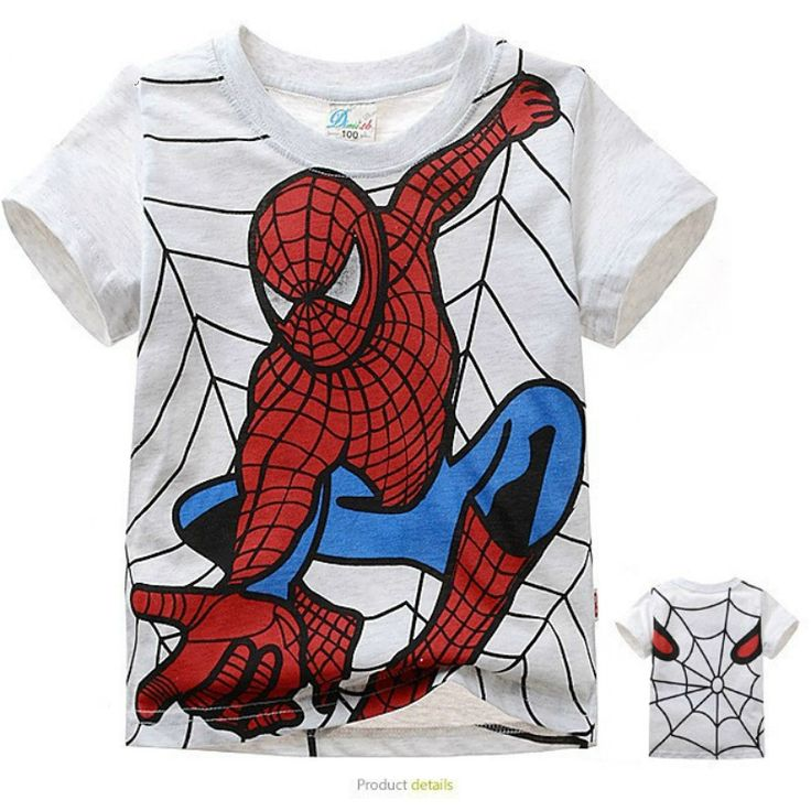 BOYS SPIDERMAN T-SHIRT - SIZE 2T TO 7