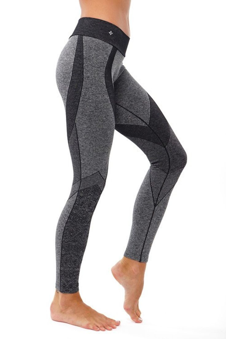 - Flattering Body Engineered Jacquard Design - Breathable heather fabrication - Seamless circular waistband - Moderate Compression - Made with Love in LA