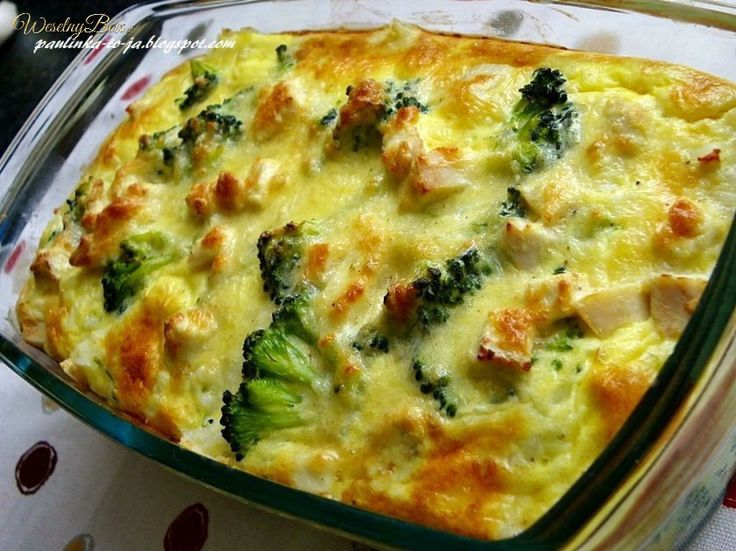 Nie masz pomysłu na obiad? Zapiekanka z kurczakiem i brokułami!