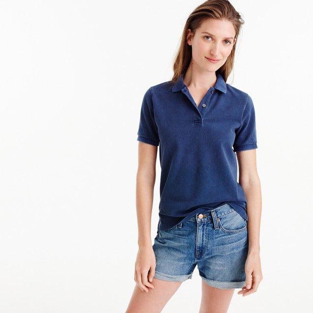 Garment-dyed piqué polo shirt : Women Short sleeve | J.Crew