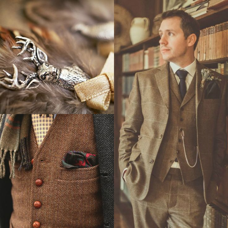 Hunter Grooms Wedding Outfits Inspiration // Hello Romance Photography // Green Villa Barn // Michelle Lindsell Photography // Engaged.nl